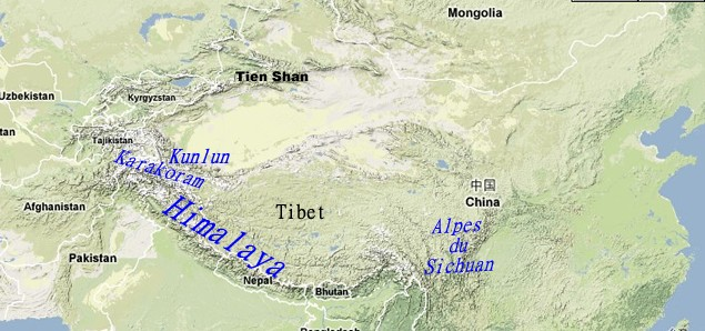 Mountain Chains Of Tibet